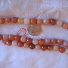 Gemstone stone beads Peach quartz Round 8MM 15 inch strand