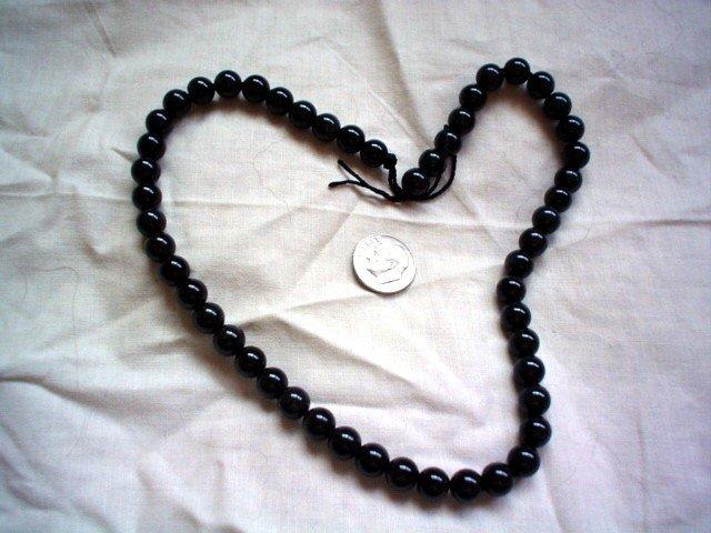 Round gemstone stone beads Sheen Obsidian 8mm 16 inch strand
