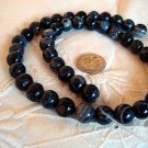Gemstone stone beads Black striped agate 10mm 15 inch strand