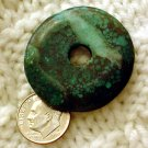 Turquoise donut pendant undrilled aproximately 35 mm a010