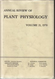 Annual Review of Plant Physiology Volume 21 1970