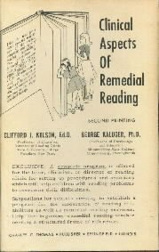 Clinical Aspects of Remedial Reading,  by Kolson, Clifford J.