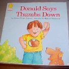 Donald Says Thumbs Down  by Cooney, Nancy Evans; Chambliss, Maxie