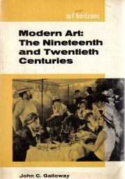 Modern Art-Nineteenth & Twentieth Centuries-Galloway-Trade PB-