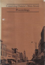 Conserving Ontario's Main Streets Proceedings mary Fraser editor