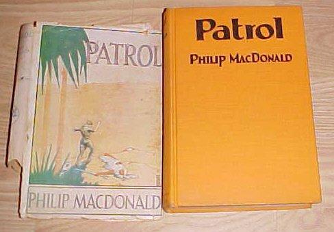Patrol Philip Macdonald 1928 HC DJ 1st First Edition
