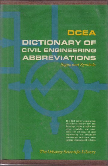 DCEA Dictionary of Civil Enginnering Abbreviations Signs and Symbols