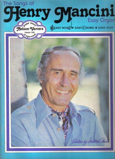 Songs of Henry Mancini Easy Organ Songbook