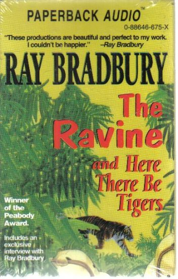 The Ravine and Here There Be Tigers Ray Bradbury audio book cassette