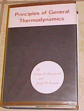 Principles General Thermodyamics Hatsopoulos and Keenan 1965 HC DJ