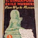 The Singapore Exile Murders Van Wyck Mason 1943 Paperback