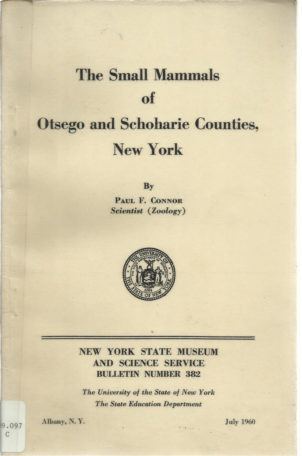 Small Mammals of Otsego and Schoharie Counties New York
