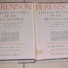 Italian Pictures Renaissance Venetian School (2 volumes) Bernard Berenson HC DJ