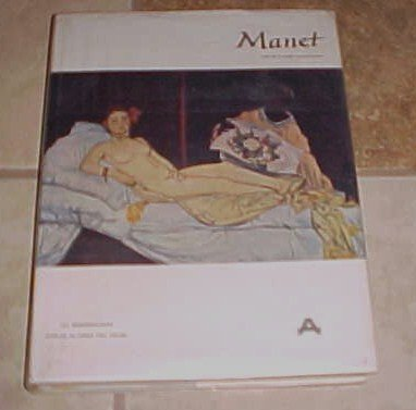 Edouard Manet HC DJ  Pierre Courthion Library Great Painters tipped in color plates