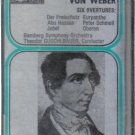 Carl Maria Von Weber Six Overtures (Musical Heritage Society Audio Cassette)