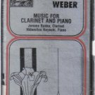 Carl Maria Von Weber Music Clarinet Piano (Musical Heritage Society Audio Cassette)