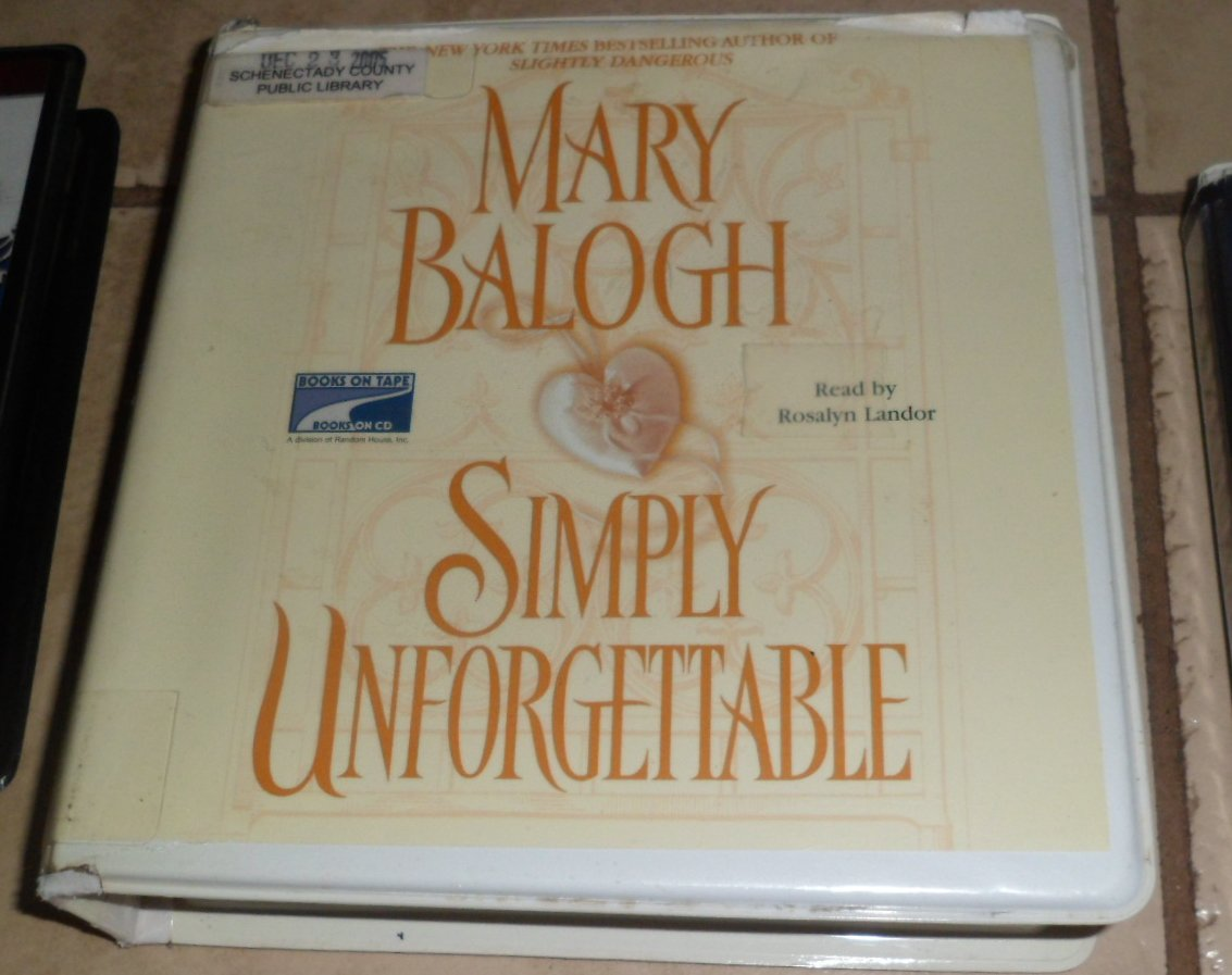 Simply Unforgettable Unabridged audio book cds Mary Balogh