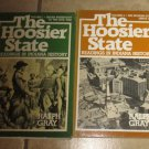 Lot 2 Books HOOSIER STATE Readings in Indiana History Volume 1 & 2 Ralph Gray