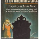 By The Watchman's Clock Leslie Ford  c.1960 Popular Library Paperback