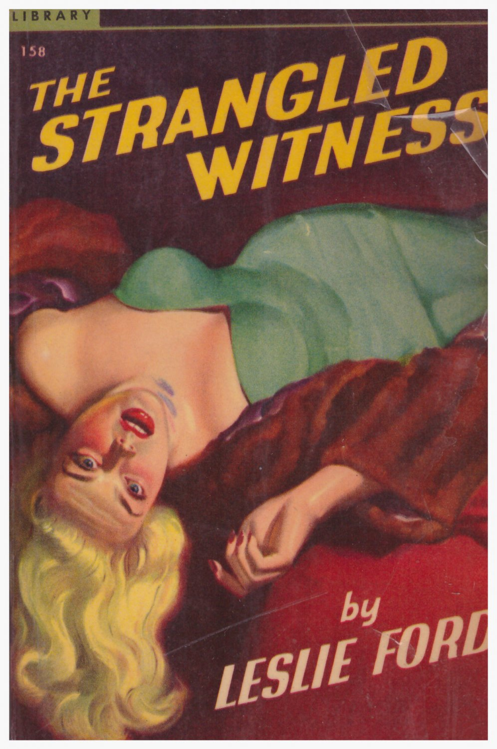 The Strangled Witness Leslie Ford Early Popular Library Paperback
