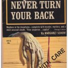 Never Turn Your Back Margaret Scherf Crime Club Selection Paperback