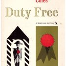 Duty Free Crime Club Selection  First Edition  Manning Coles 1959 HC DJ Free S/H