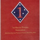 1st Marine Division Association Membership and Personal History Directory 2012