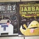 Lot 2 Origami Yoda Activity Books Jappa Puppett Art2-D2's Guide Folding Doodling