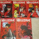 Lot 5 HELLSING Manga Books Horror Action Graphic Novels Volumes 1-5