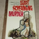 Start Screaming Murder Talmage Powell 1962 Paperback Ed Rivers Mystery Free USA S/H