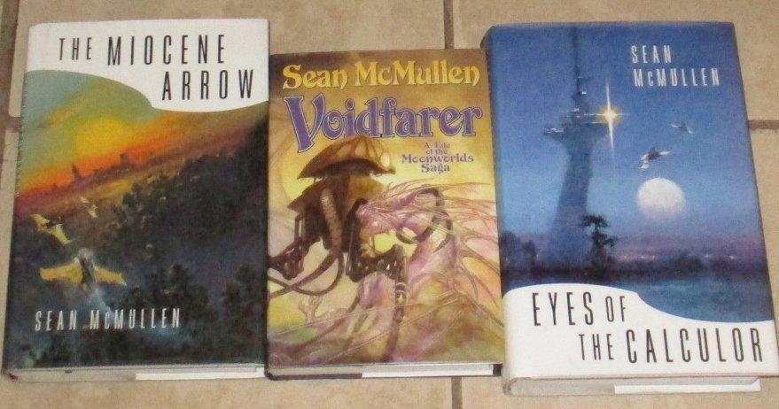 Lot 3 Sean McMullen Books SciFi Hardcovers Voidfarer Eyes Calculor Miocene Arrow