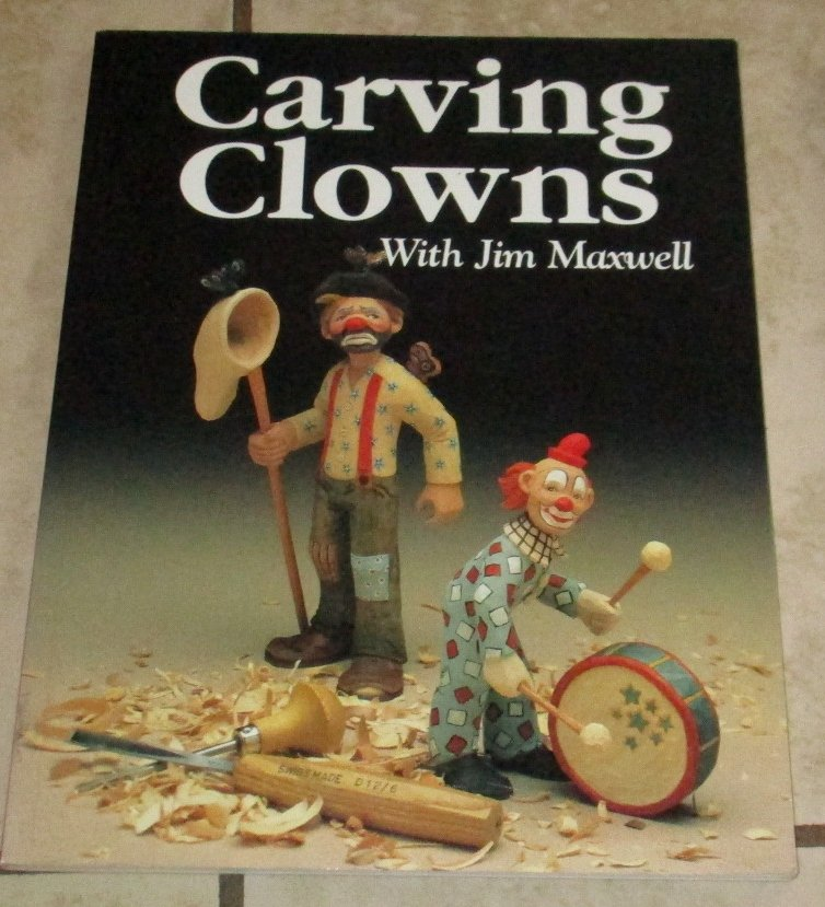 Carving Clowns with Jim Maxwell Free USA S/H