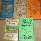 Lot 5 SUSAN WITTIG ALBERT Books Lot China Bayles Mysteries Cottage Tales