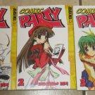 Lot 3 COMIC PARTY Manga Books Comics Volume 1-2-3 Tokyopop Sekihiko Inui