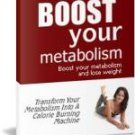 How to boost your metabolism and lose weight!