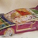 "NASCAR STYLE COLLECTIBLE MURANO ART GLASS CAR 4"" NIB"