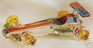 MURANO ITALIAN ART GLASS FORMULA 1 RACING CAR 5 1/2 INCHES