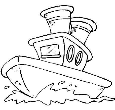 BOATS Coloring eBOOK! 32 Printable Pages