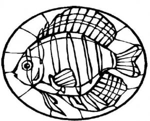STAINED GLASS FISH Printable Coloring eBook CD | 33 Pages Coloring ...