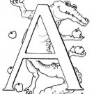 ABCS ALPHABET Printable Coloring eBook on CD | 58 Pages Coloring Sheets Book