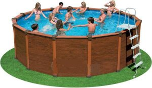 Sequoia Spirit Wood-Grain Frame Pool