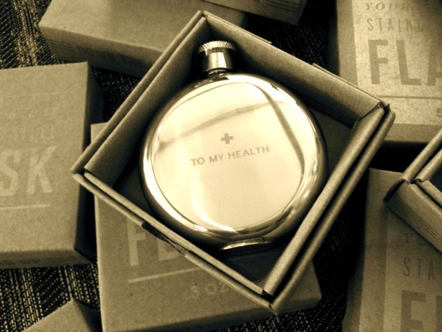 To My Health 3 oz. Flask