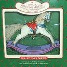 Hallmark Keepsake Christmas Ornament Rocking Horse 1987 White Horse #7 GB ~*~
