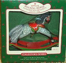 Hallmark Keepsake Christmas Ornament Rocking Horse 1988 Dappled Grey/Gray #8 VGB  ~*~