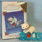 Hallmark Keepsake Christmas Ornament COLORWAY / REPAINT Cool Decade 2003 Arctic Fox Bird #4 VGB ~*~v