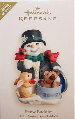 Hallmark Keepsake Christmas Ornament Snow Buddies Special 2007 10th Anniversary Edition  VGB ~*~
