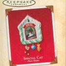 Hallmark Keepsake Christmas Ornament 2002 Special Cat Photo Holder Kitten VGB ~*~v