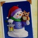 Hallmark Keepsake Christmas Ornament Snow Buddies 2005 Snowman Owl #8 VGB ~*~v