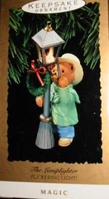 Hallmark Keepsake Christmas Ornament The Lamplighter 1993 Victorian Bear Street Lamp GB ~*~v