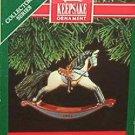 Hallmark Keepsake Christmas Ornament Rocking Horse 1991 Buckskin #11 FB ~*~v